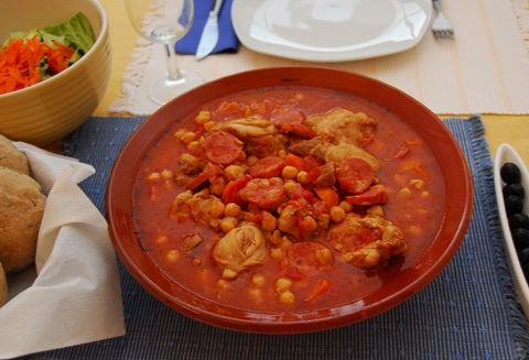 ポルトガルの美味しい食卓から-鶏とひよこ豆