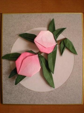 簡単 折り紙 折り紙 桃 : ameblo.jp