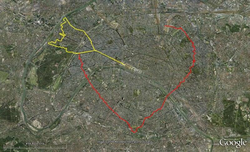 やっさんのGPS絵画プロジェクト -Yassan's GPS Drawing Project--100608Paris