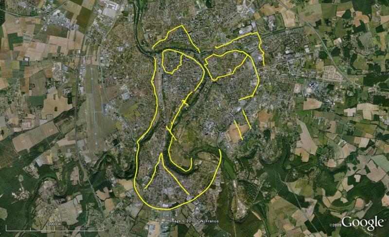 やっさんのGPS絵画プロジェクト -Yassan's GPS Drawing Project--100615Poitiers
