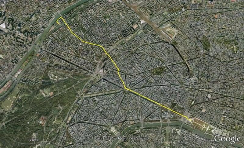 やっさんのGPS絵画プロジェクト -Yassan's GPS Drawing Project--GPS100607Paris