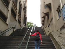 やっさんのGPS絵画プロジェクト -Yassan's GPS Drawing Project--階段