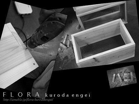 フローラのガーデニング・園芸作業日記-ディスプレイBOX制作