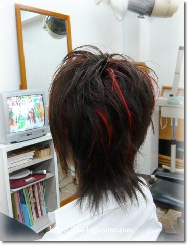 ヘアスタイル ★ メンズ ★ 赤メッシュ ★ 10代♪   髪美館 ログ ...