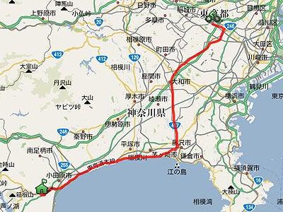 自転車の 東京 名古屋 自転車 1日 : ... 1 日 目 東京 箱根湯本