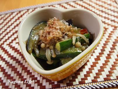 Nagano Life**-なすときゅうりの炒め煮
