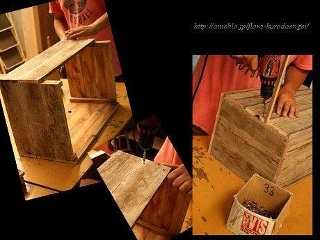フローラのガーデニング・園芸作業日記-木工作業・木箱作り