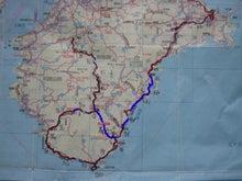 $歩き人ふみの徒歩世界旅行 日本・台湾編-熊野歩きルート図