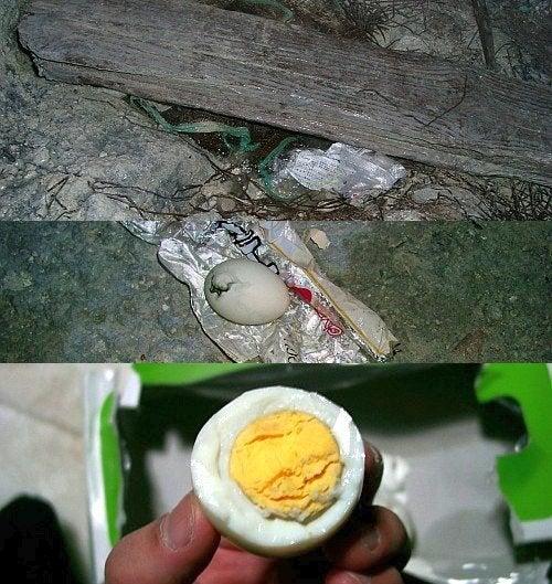 (足跡の足跡)めんたる系-玉川温泉でのゆで卵