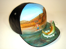 $Kawamura Fine Leather Arts & Crafts Diary-Fishing Cap