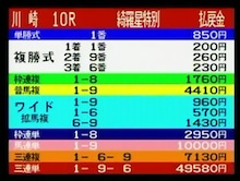 KEIBARMASTER 競馬 馬券生活三昧-綺羅星特別☆夢馬券