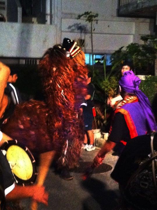 ケロケロの散歩道-獅子舞
