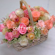 $プリザーブドフラワーギフトCoffret fleur【コフレフルール】-バスケットアレンジ