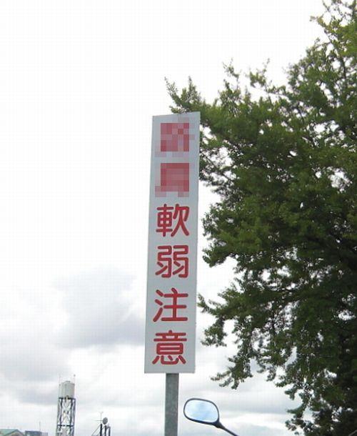 """山岡キャスバルの""""偽オフィシャルブログ""""「サイド4の振興(旧名:侵攻)」-軟弱 看板"""