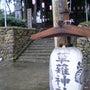 雨の中・・・神社☆