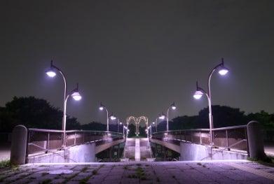 ハイヲピラ学習帳-近所の公園夜景