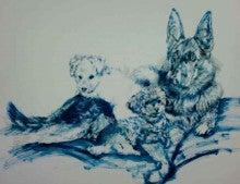 ファンタジー絵描きEricoの動物肖像画館-シェパードプードル