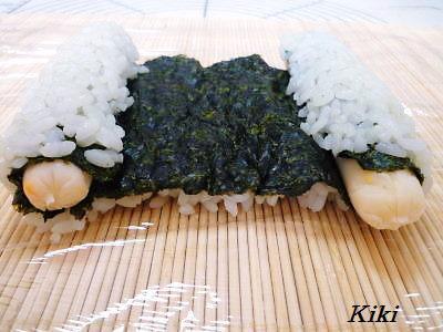 Kikiのキャラ弁1年生-カエル海苔巻き