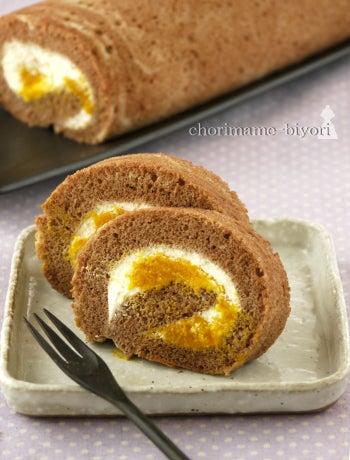 かぼちゃのチョコロールケーキ(動画)。 とボロネーゼの晩ご飯。|ちょりまめ日和