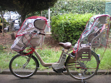 子供乗せ自転車用の風防 ...
