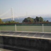明石大橋渡りました