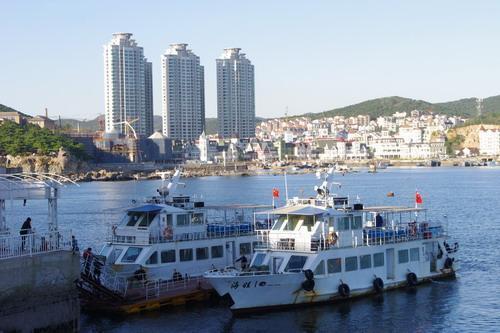中国大連生活・観光旅行通信**-老虎灘 海上観光船