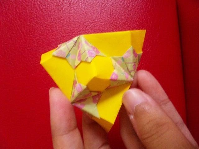 すべての折り紙 折り紙 りんご : ... ユニット折り紙ブログ と 日常