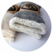 アンゴラヤギの靴下-ルーズソックス履き口