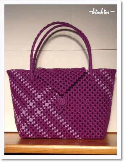 斜め編み bag 20101008