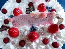 POPWORK-スイーツデコな日々-バラ付きオブジェケーキ