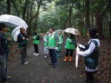 緑化推進事業の活動報告-101009森をガイドウォークしながら