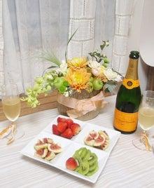 錦糸町☆花嫁のための手作りウェディングブーケ-シャンパンと花