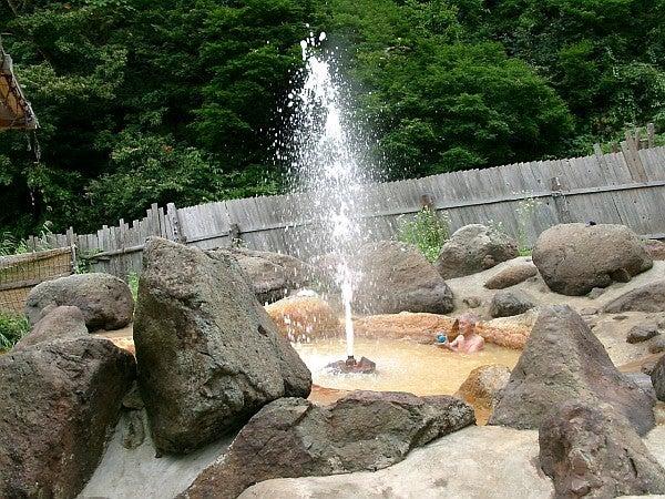 (足跡の足跡)めんたる系-噴出した温泉