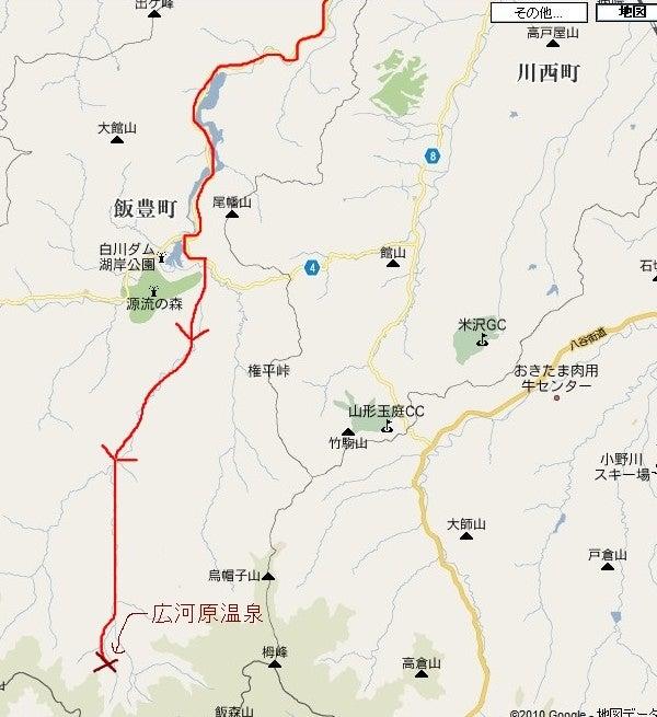 $(足跡の足跡)めんたる系-広河原温泉地図