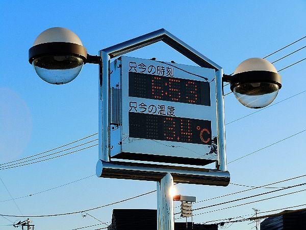 北海道の野生動植物写真-温度計