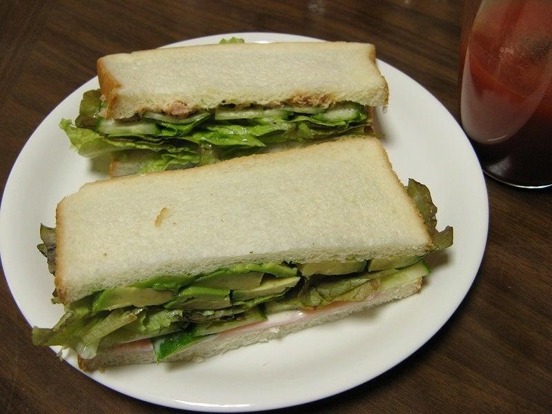 宅ひとりごはん-10/26 朝 サンドイッチ