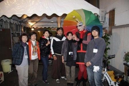 街じゅうアートin北九州2010スタッフブログ-きむらとしろうじんじん「野点」10.28