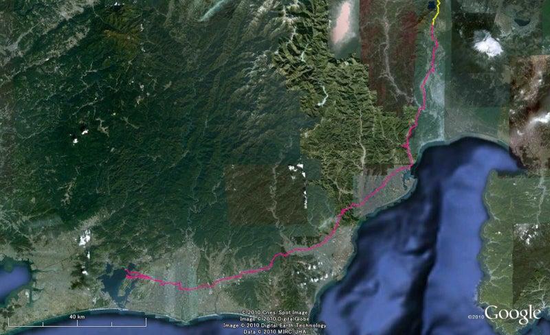 やっさんのGPS絵画プロジェクト -Yassan's GPS Drawing Project--GPS進捗101102