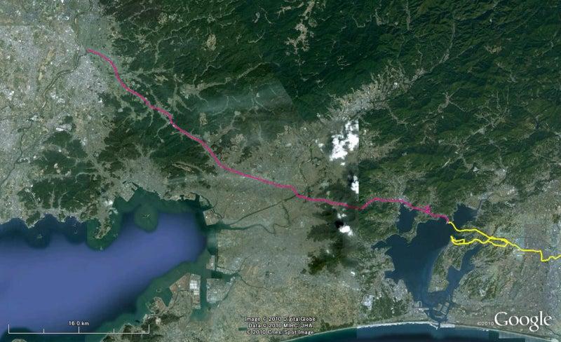 やっさんのGPS絵画プロジェクト -Yassan's GPS Drawing Project--GPS進捗101103
