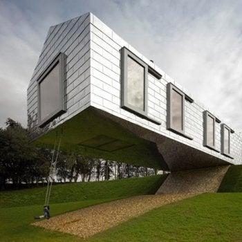 Balancing barn by mvrdv and mole architects swipe file - The balancing barn plunging architecture ...