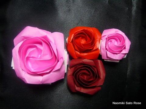ハート 折り紙 : 折り紙でバラの作り方 : matome.naver.jp