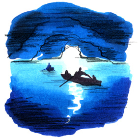 【彼女の恋した南イタリア】 ~ diario-青の洞窟 Illustration:吉川千晶さん