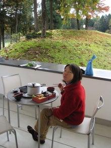 歩き人ふみの徒歩世界旅行 日本・台湾編-昼食中