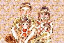 あなたの大切な家族を似顔絵に!~子育てママ絵師つれづれ日記~-よねこさんポストカード