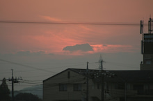 $しろうちゃんの写真館-20101121クック夕焼け