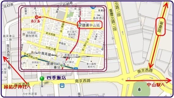 悶々ぐるもじゃblog-map_taipei