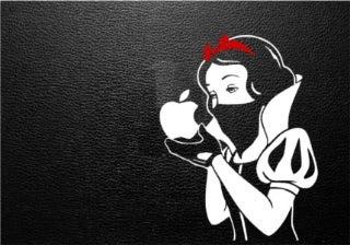 GIRL MEETS APPLE!-白雪姫ステッカー