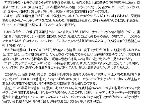 kazukunの 神出鬼没-好きな女子アナ 2