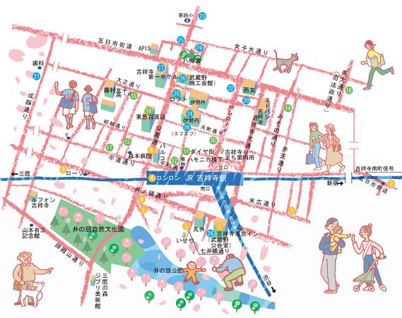 kazukunの 神出鬼没-吉祥寺マップ