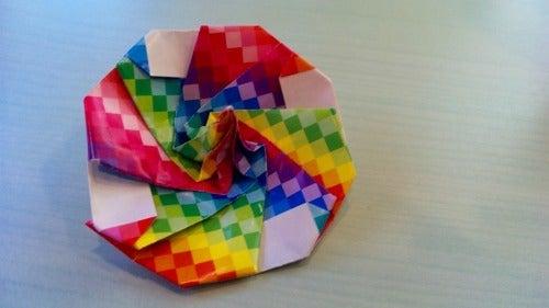 ハート 折り紙 折り紙こま1枚 : ameblo.jp